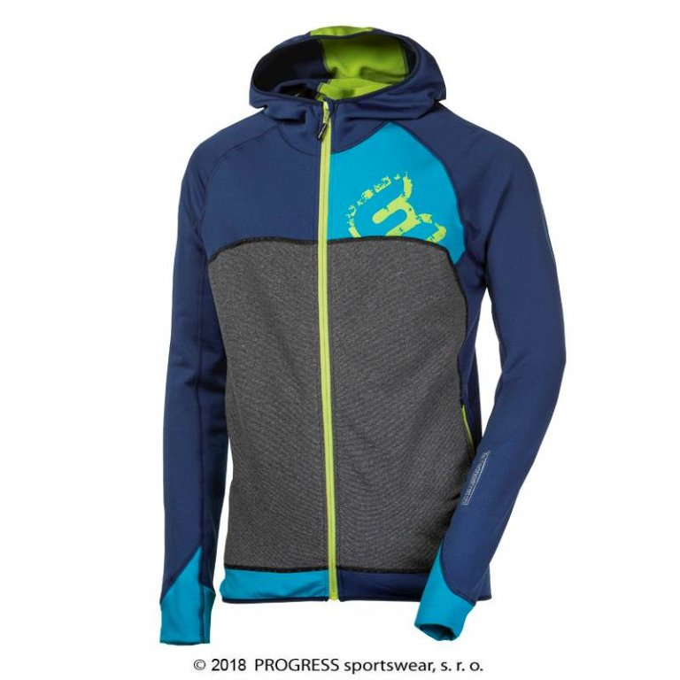 Mikina pánská Progress REBEL modro/zelená