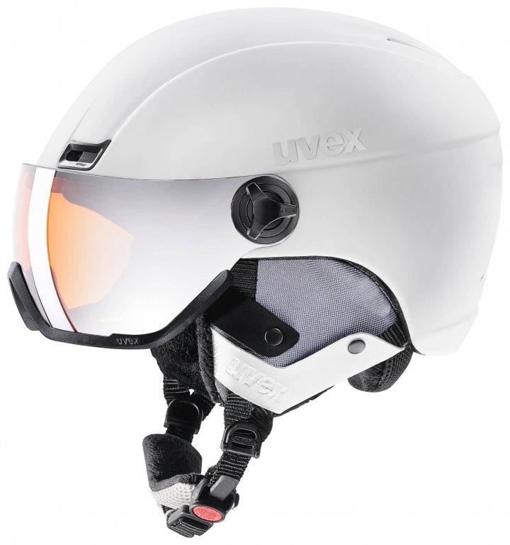 Přilba lyžařská UVEX HLMT 400 VISOR STYLE bílá