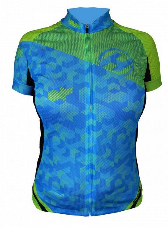dres krátký dámský HAVEN SINGLETRAIL modro/zelený,XXL