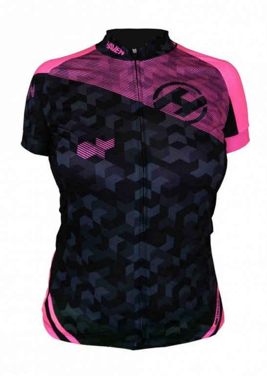 dres krátký dámský HAVEN SINGLETRAIL černo/růžový,L