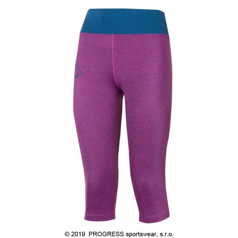 Kalhoty 3/4 dámské Progress IMPALA 3Q fialové