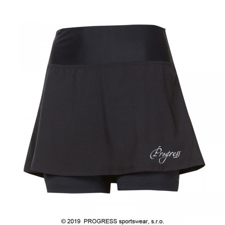 Sukně dámská Progress GONNA+šortky černá