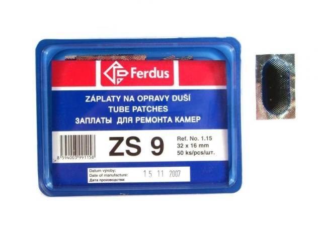 záplaty Ferdus ZS 9 32x16 50ks/2.14/ks