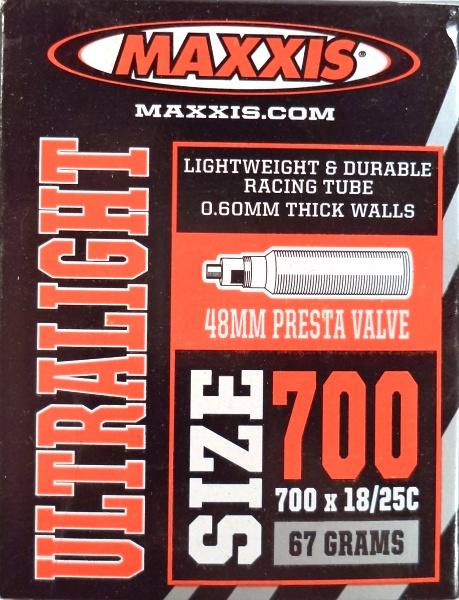 """duše MAXXIS Ultralight 28""""x0.75-1.00 (18/25-622) FV/48mm"""