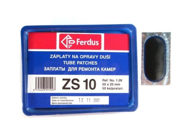 záplaty Ferdus ZS10 50x25 50ks/2.24/ks