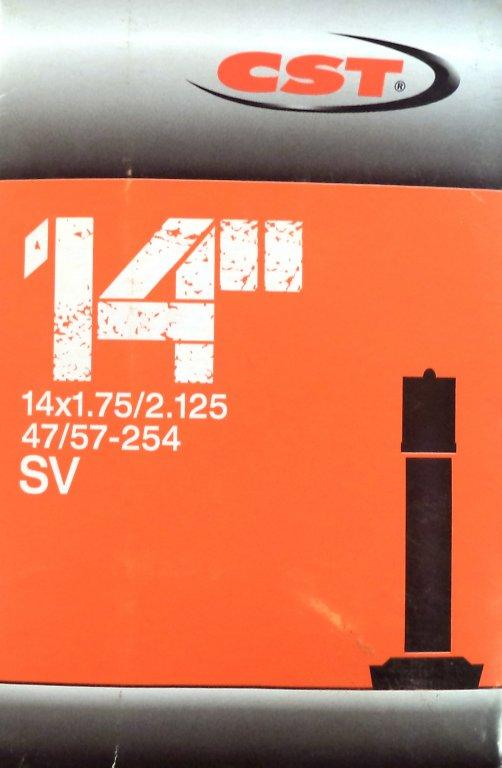 """duše CST 14""""x1.75-2.125 (47/57-254) AV/33mm"""