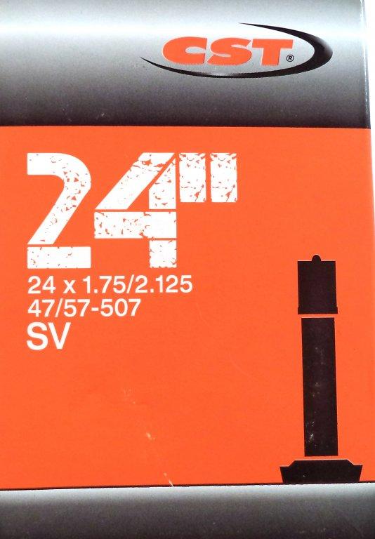 """duše CST 24""""x1.75-2.125 (47/57-507) AV/33mm"""