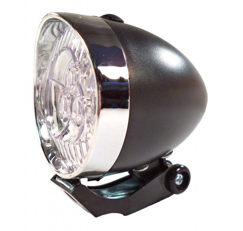 osvětlení přední 4RACE LF02 3 LED bateriové černé