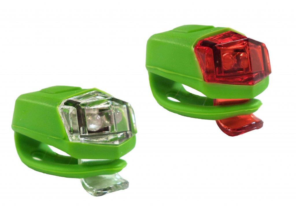 blikačka přední+zadní 4RACE LS02 silicon zelené