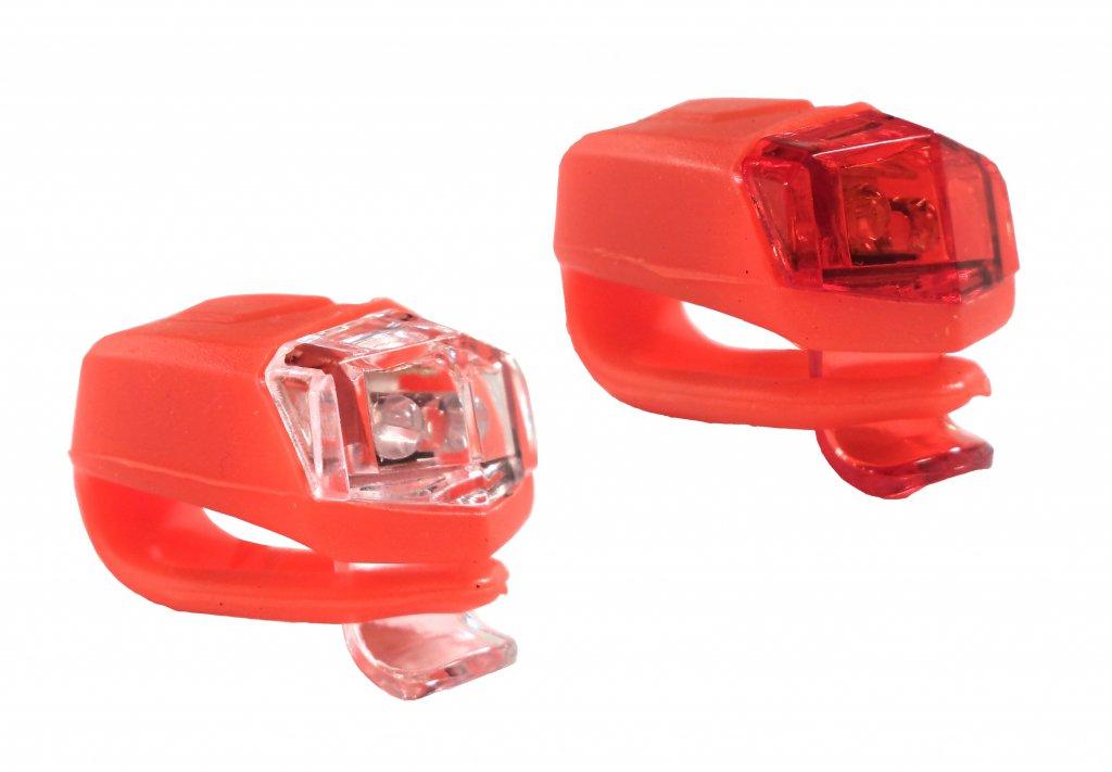 blikačka přední+zadní 4RACE LS02 silicon červené