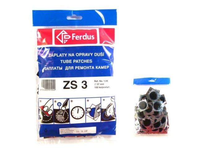 záplaty Ferdus ZS 3 37mm 100ks