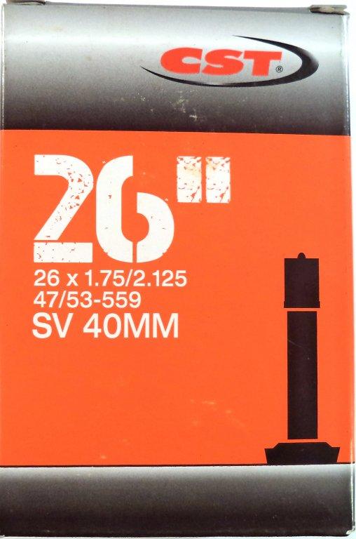 """duše CST 26""""x1.75-2.125 (47/53-559) AV/33mm"""