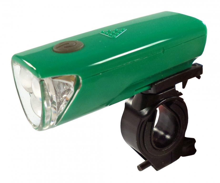 osvětlení přední 4RACE LF01 3 D zelené