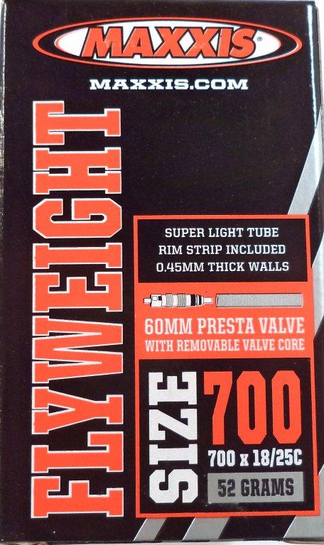 "duše MAXXIS Flyweight 28""x0.75-1.00 (18/25-622) FV/60mm"