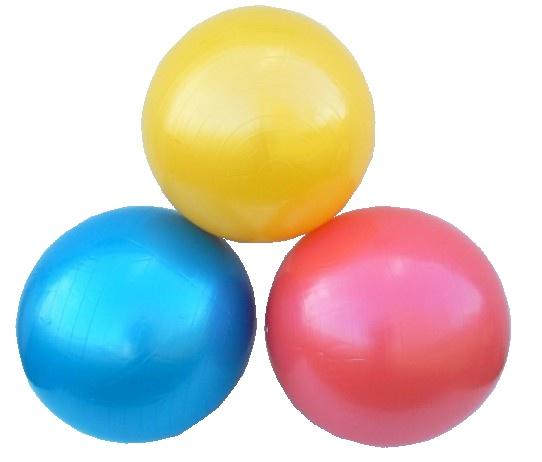 míč gymnastický relaxační 75 cm červený