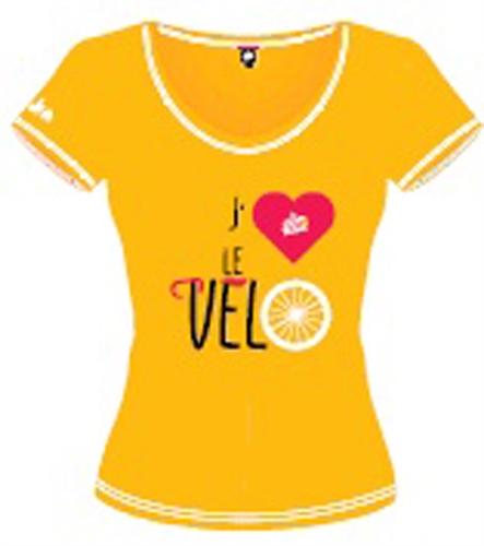 triko krátké dámské Tour de France VELO žluté
