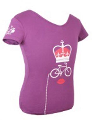 triko krátké dámské Tour de France KOLO fialové