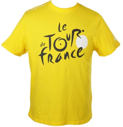 triko krátké dětské Tour de France LEADER žluté