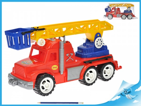 auto hasičské 60cm s žebříkem