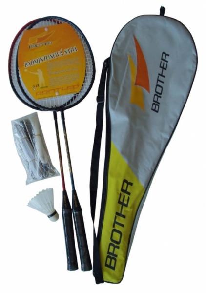 badmintonová sada - 2pálky,síť+košíčky