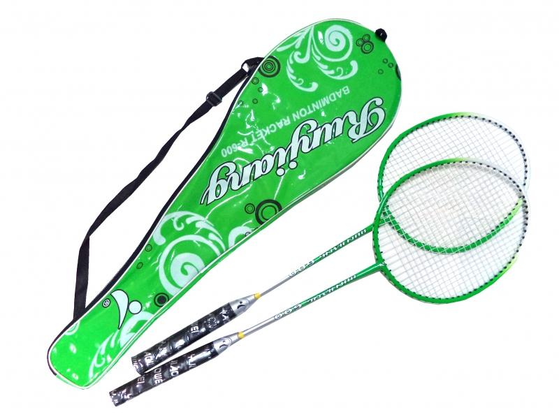 badmintonová sada DE LUXE zelená