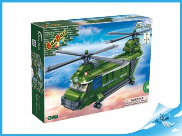 Banbao stavebnice Defence Force vrtulník