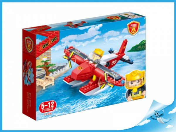 Banbao stavebnice Fire hasičské letadlo