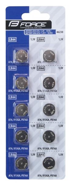 baterie CC+pulsmetrů FORCE LR44 A76 10ks