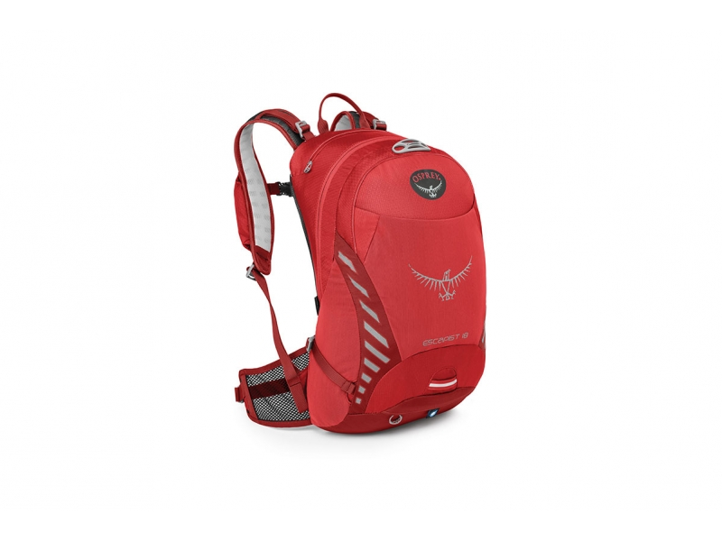 batoh + pláštěnka OSPREY ESCAPIST 18 červený (M-L;S-M)