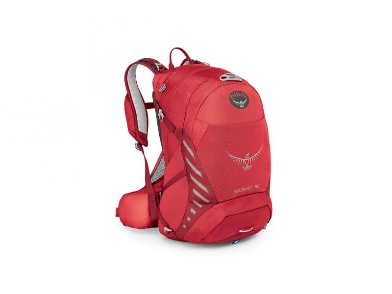 batoh + pláštěnka OSPREY ESCAPIST 25 červený (M-L;S-M)