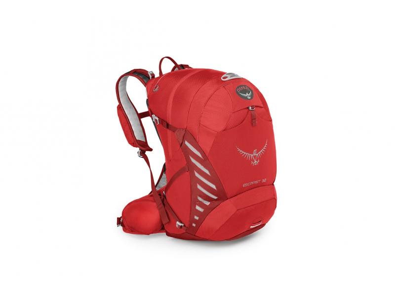 batoh + pláštěnka OSPREY ESCAPIST 32 červený (M-L)