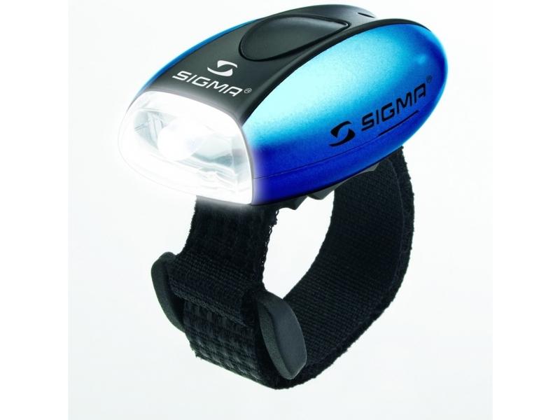 blikačka přední SIGMA MICRO W modrá 2f