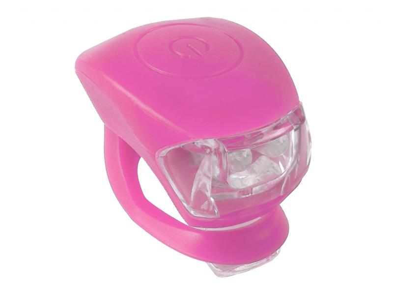 blikačka přední+zadní M-Wave silicon růžové