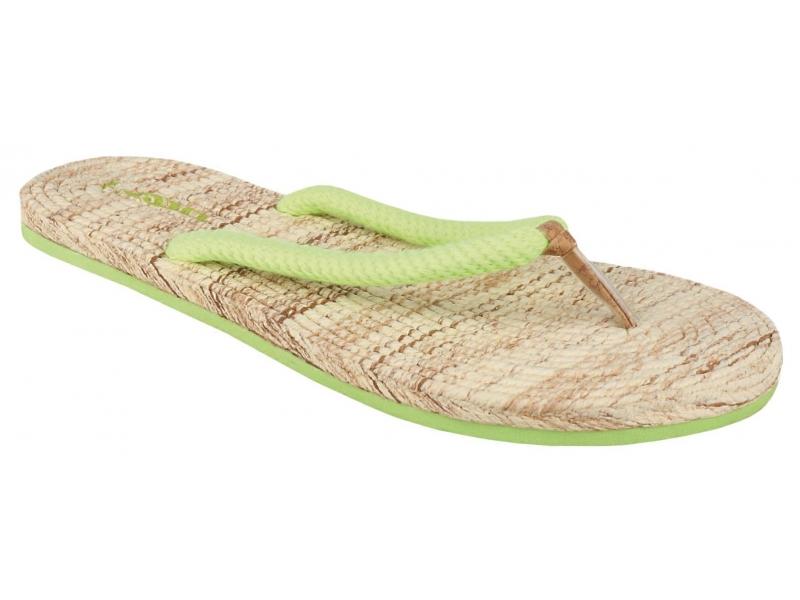 boty dámské LOAP SUN žabky limetkové