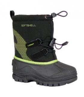 boty dětské LOAP KUTI zimní černo/zelené