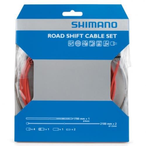 bowdeny+lanka Shimano SP41 set červený