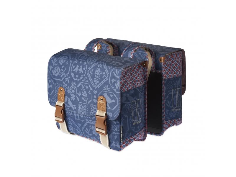 brašna BASIL BOHEME -Double bag 35l nosičová 2-D indigo