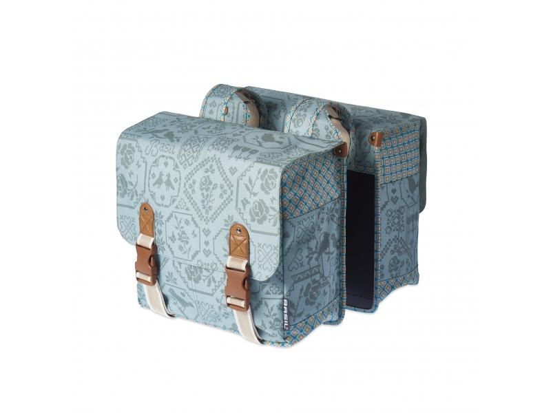brašna BASIL BOHEME -Double bag 35l nosičová 2-D světle modrá
