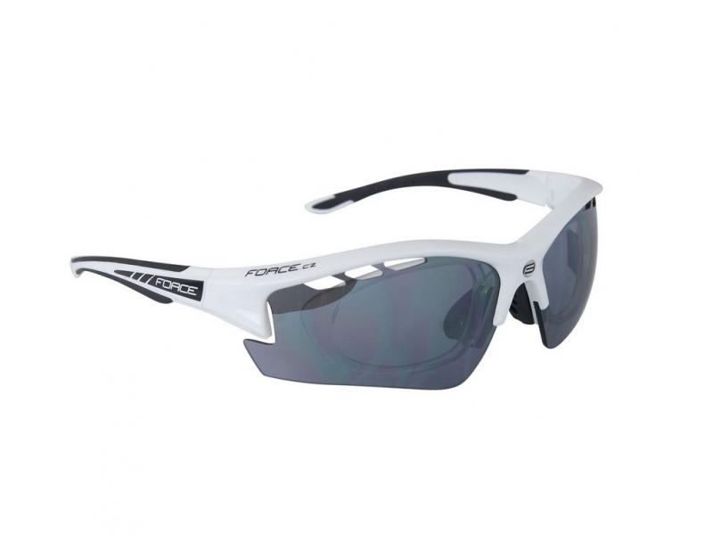 brýle FORCE F RIDE PRO dioptrický klip bílo/černé