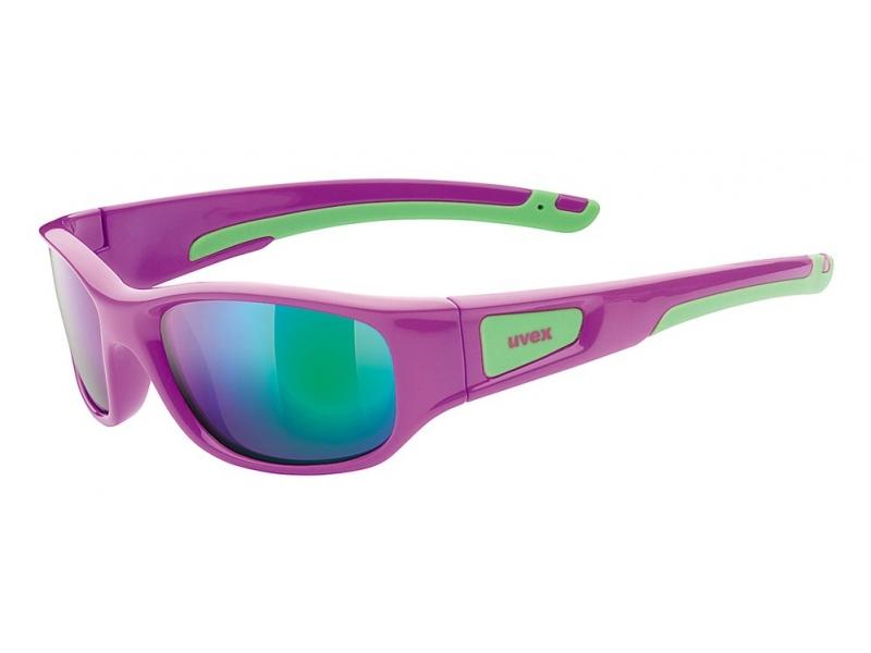 brýle UVEX Sportstyle 506 fialovo/zelené