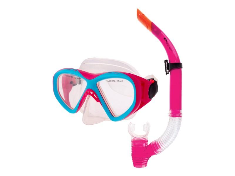 brýle+šnorchl Spokey KRAKEN II růžové