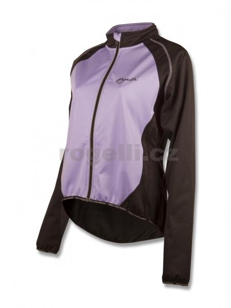 bunda dámská Rogelli BICE softshell černo/fialová