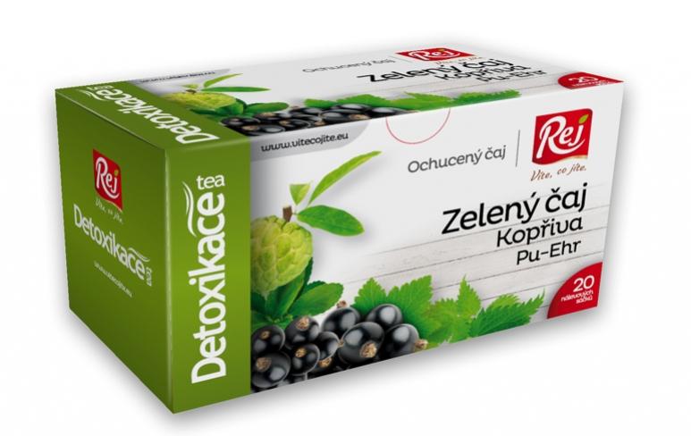 čaj - DETOXIKACE - zelený čaj (kopřiva,pu-ehr)