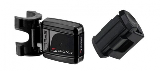 computer SIGMA vysílač rychlosti+držáky na řidítka