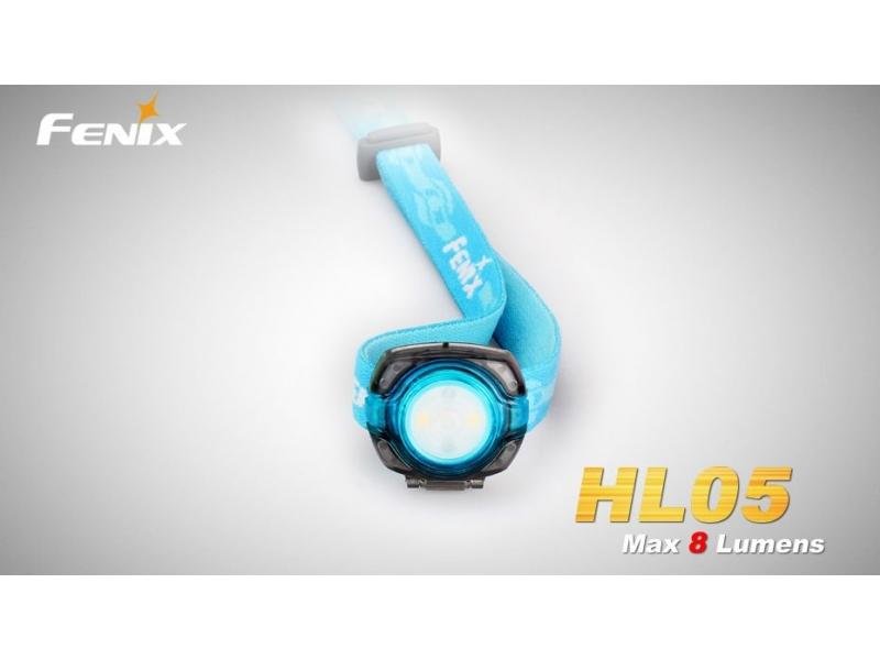čelovka Fenix HL05 - modrá