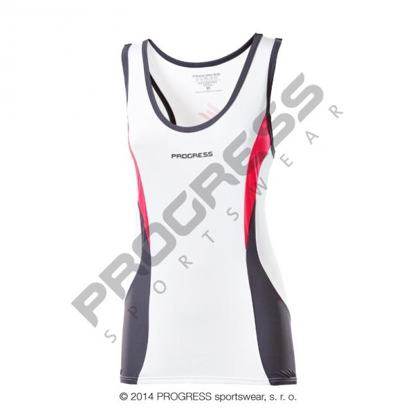 dres dámský Progress STELLA bílý bez rukávů