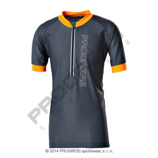 dres krátký dětský Progress FAN šedo/oranžový