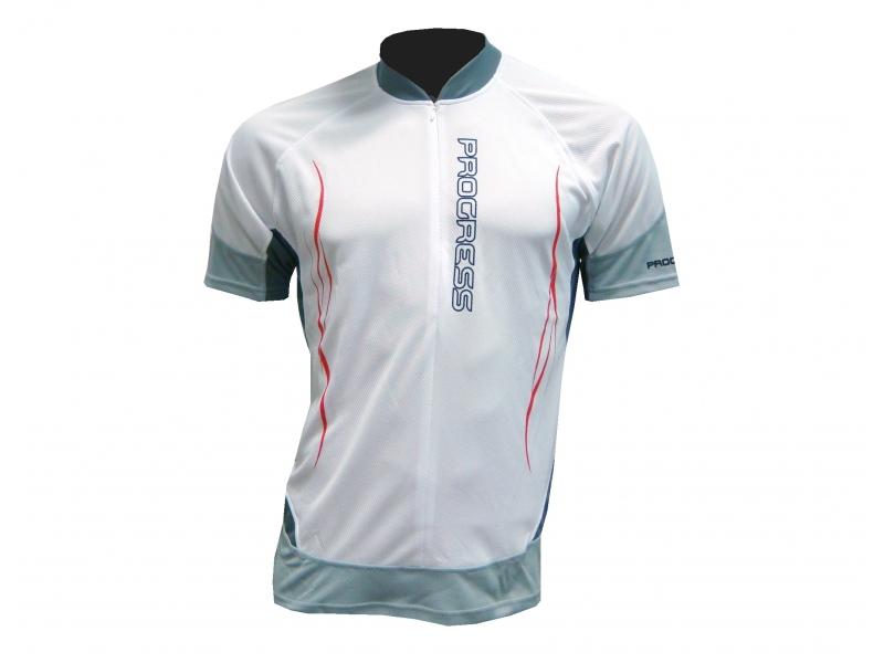 dres krátký pánský Progress RIDER bílo/černý