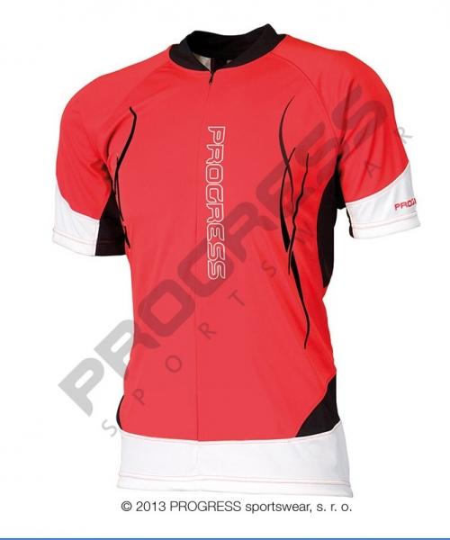 dres krátký pánský Progress RIDER červeno/bílý