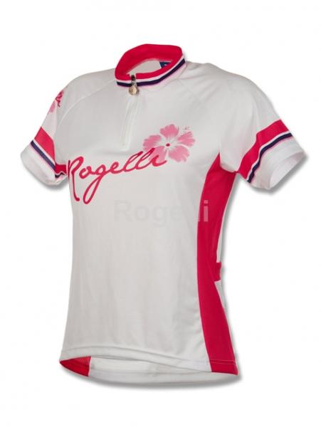 dres krátký dámský Rogelli SABRINA bílo/růžový
